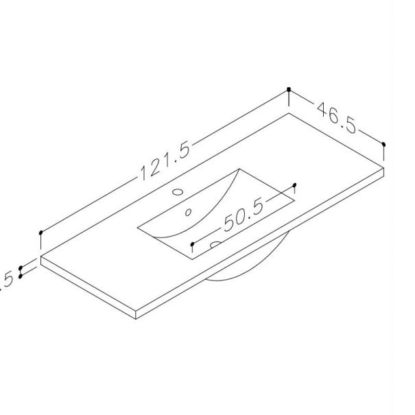 Seville vask 120cm
