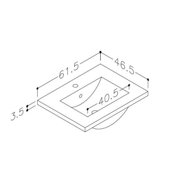Seville vask 60cm