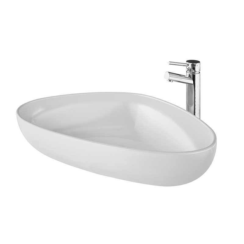 Image of   TERCA fritstående porcelænsvask hvid