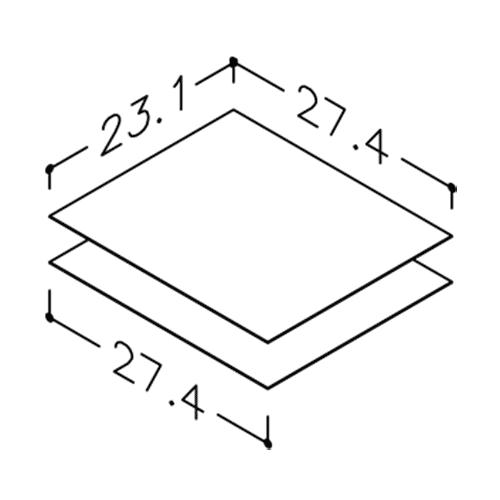 Image of Gummimåtte sæt til højskabe