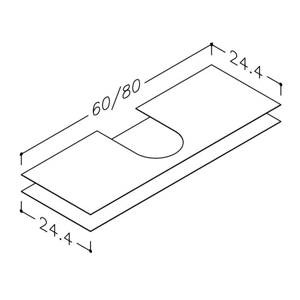 Image of Gummimåtte sæt til EASY vaskeskab