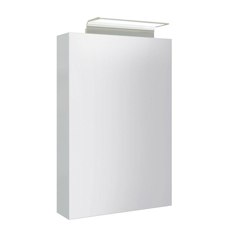 Image of   WAVE spejlskab med aluminium lysgiver - 1 låge